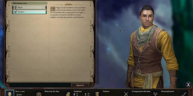 Cómo crear a nuestro personaje en Pillars of Eternity 2: Deadfire