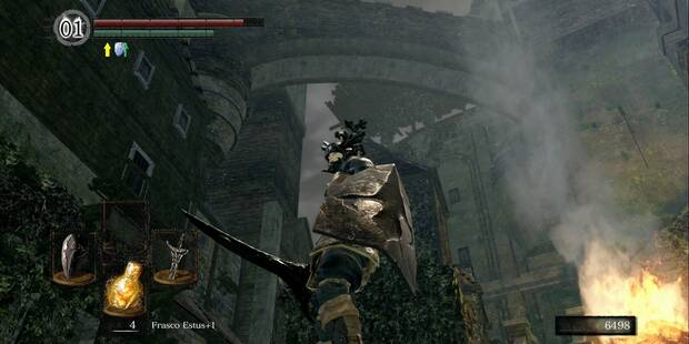 Burgo de los no muertos (nivel inferior) en Dark Souls Remastered al 100%