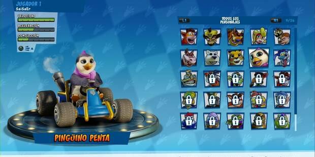 Truco para conseguir a Penta Penguin en Crash Team Racing