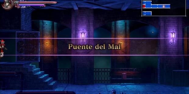Puente del Mal al 100% en Bloodstained: Ritual of the night