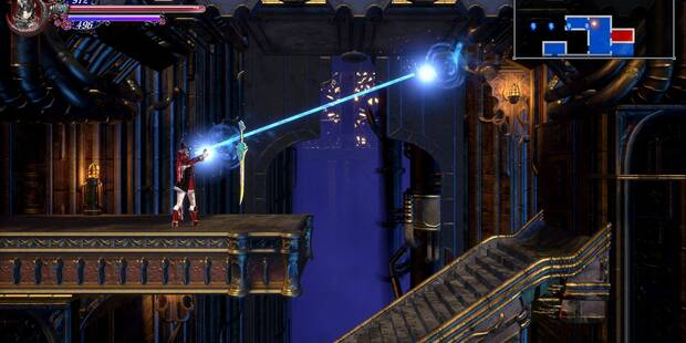 Usando el Rayo reflector al 100% en Bloodstained: Ritual of the night