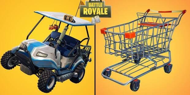 Desafío Fortnite: Salta a través de círculos llameantes con un carrito de la compra o un CTT - Solución