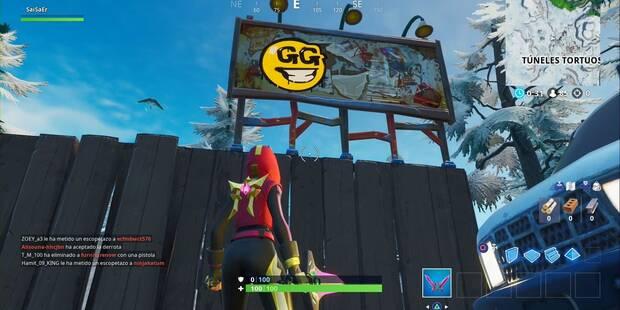 Fortnite: Visita vallas publicitarias cubiertas de grafitis en una misma partida - SOLUCIÓN al desafío