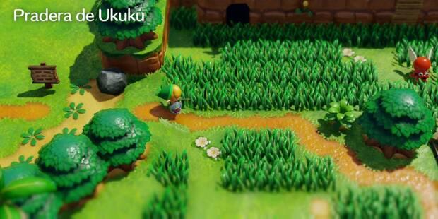 Pradera de Ukuku en Zelda: Link's Awakening: secretos y 100%