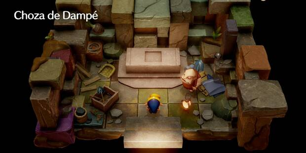 Choza de Dampé en Zelda: Link's Awakening - mecánicas y recompensas