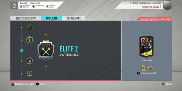 FIFA 20: Todas las recompensas de Squad Battles en FUT