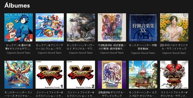 Capcom añade nuevas bandas sonoras de sus juegos a Spotify Imagen 2