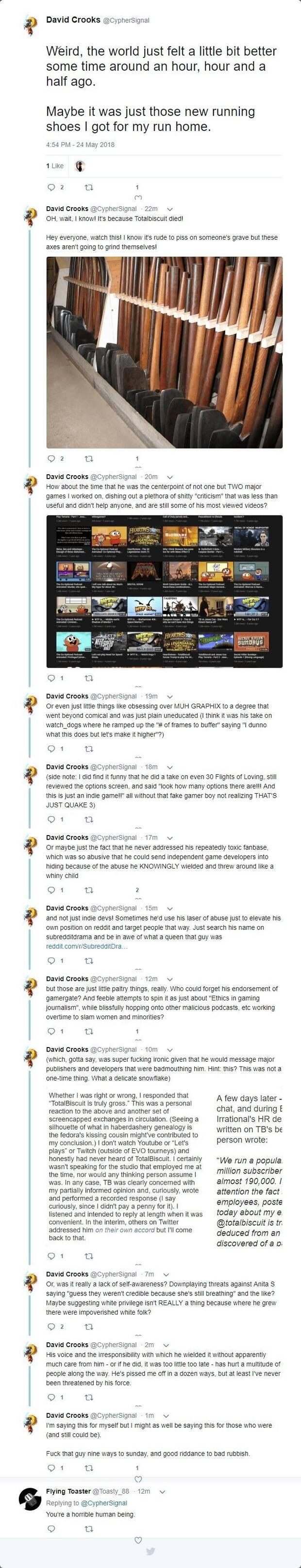 Un ex desarrollador de Bioware celebra la muerte de Totalbiscuit Imagen 2