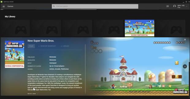 New Super Mario Bros. Wii para PC en GeForce Now.
