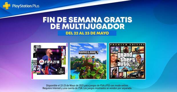 Fin de semana de PS Plus gratis del 22 al 23 de mayo de 2021.