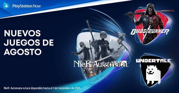 Juegos de PS Now de agosto.
