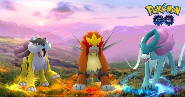Entei, Raikou y Suicune Pokémon Go