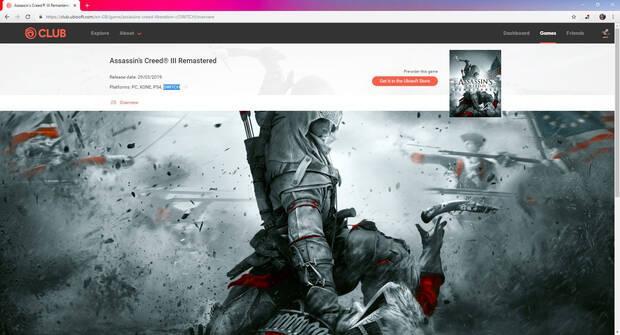 Retiradas las menciones a Switch en la web de Assassin's Creed III Remastered Imagen 2