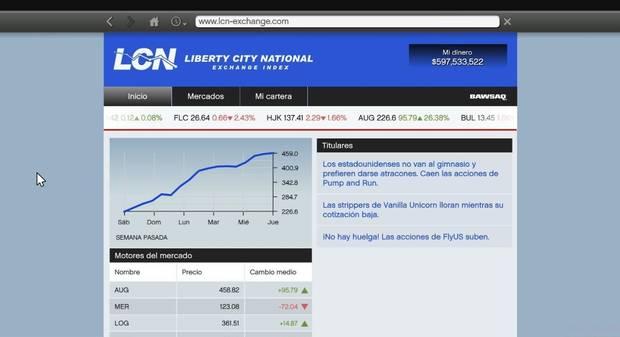 Dinero en el mercado de valores GTA 5