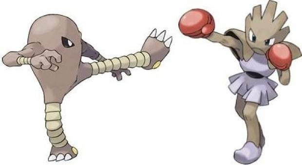 Hitmonlee y Hitmonchan en Pokémon Let's Go
