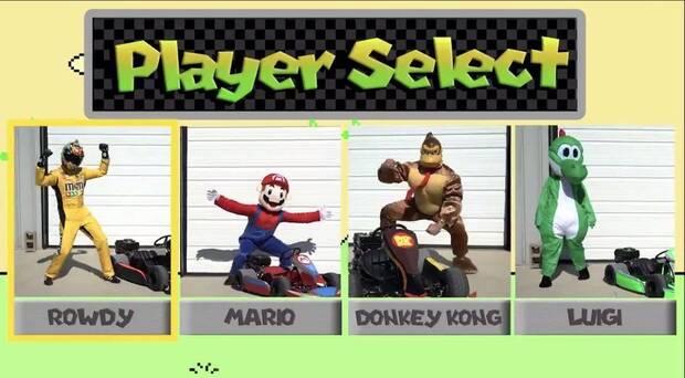 Un piloto de NASCAR crea su propia carrera de Mario Kart Imagen 2