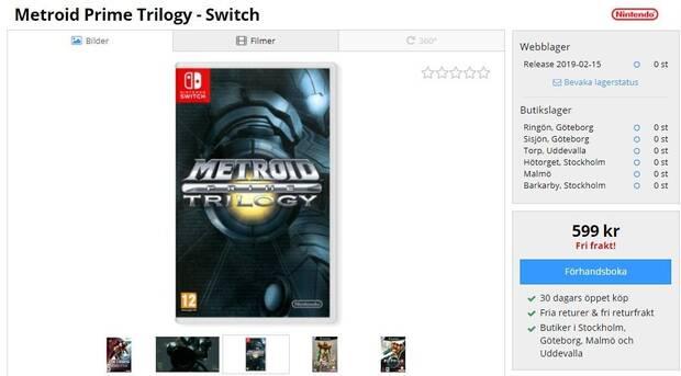 Una tienda incorpora Metroid Prime Trilogy para Switch a su catálogo Imagen 2