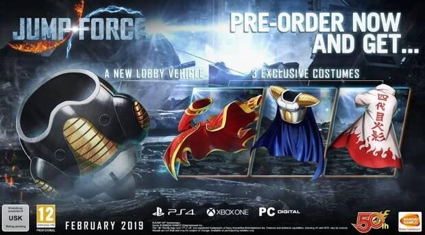 JUMP Force se lanza en febrero; Nuevos personajes y edición coleccionista Imagen 3