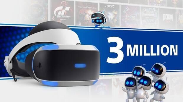 PlayStation VR vende más de tres millones de unidades Imagen 2