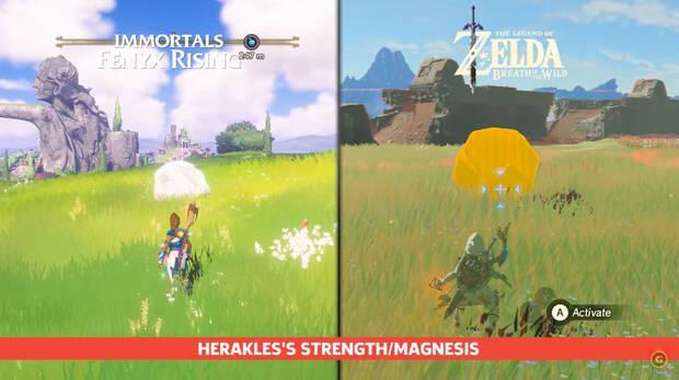 Immortels Fenyx Rising et The Legend of Zelda: Breath of the Wild, leurs similitudes