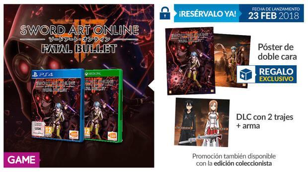 GAME detalla sus incentivos por la reserva de Sword Art Online: Fatal Bullet Imagen 2