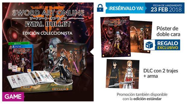 GAME detalla sus incentivos por la reserva de Sword Art Online: Fatal Bullet Imagen 3