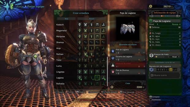 Comprueba siempre las propiedades elementales - Monster Hunter World
