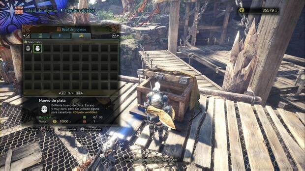 Conseguir dinero en Monster Hunter World - Objetos