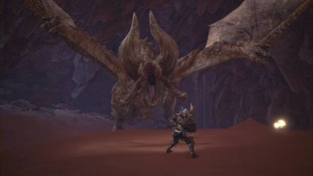 Diablos es un rival temible - Tirando astado bajo la arena - Monster Hunter World
