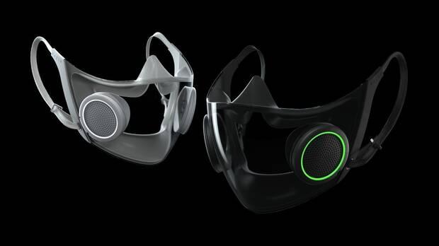 Imagen de la mascarilla transparente de Razer