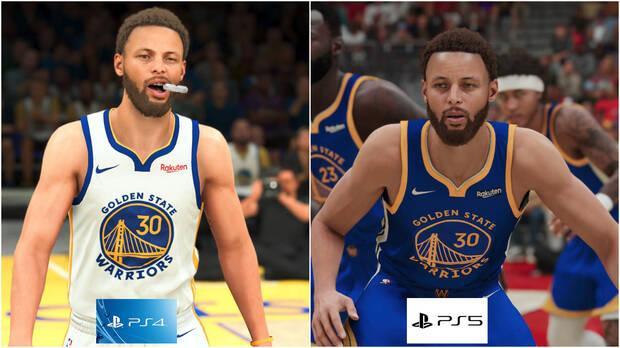 Le visage de Curry dans NBA 2K21 sur PS4 et PS5