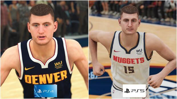 Jokic dans un jeu vidéo de basket-ball pour PS4 et PS5
