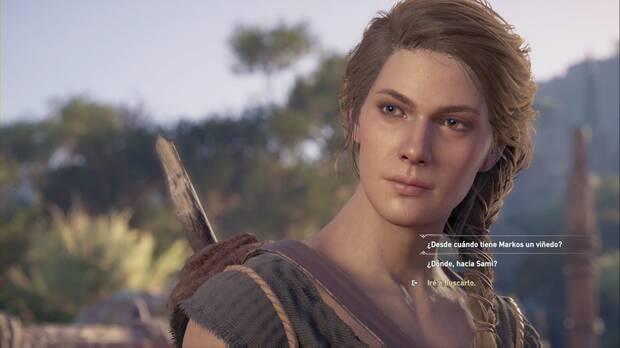 Assassin's Creed Odyssey - Kassandra mantiene una conversación con Febe