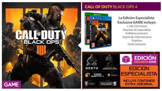 GAME detalla sus productos, ediciones y merchandising de Black Ops 4 Imagen 2