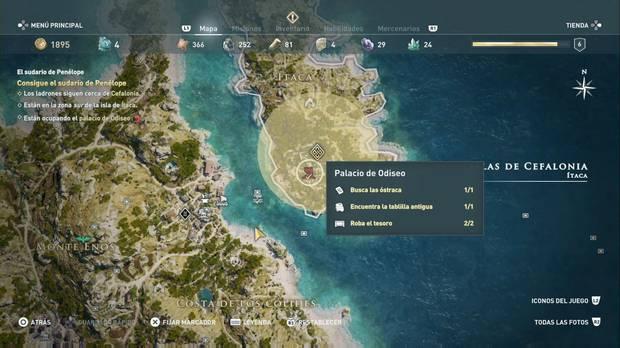 Assassin's Creed Odyssey - El sudario de Penélope: localización del Palacio de Odiseo