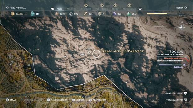Assassin's Creed Odyssey - Preguntar a un fantasma: localización del Oráculo