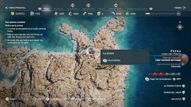 Assassin's Creed Odyssey - Localización de la Arena
