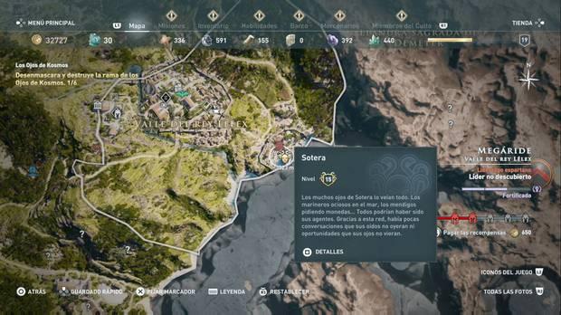 Assassin's Creed Odyssey - Miembros del Culto: localización de Sotera