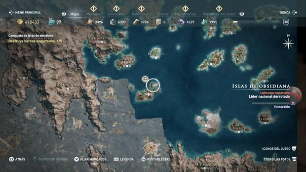 Assassin's Creed Odyssey - Miembros del Culto: localización de Sokos