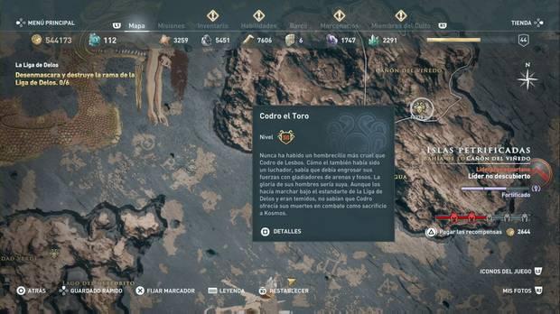 Assassin's Creed Odyssey - Miembros del Culto: localización de Codro el Toro