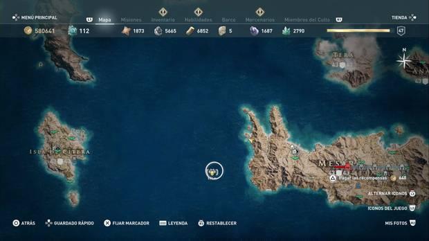 Assassin's Creed Odyssey - Miembros del Culto: localización de Melanto