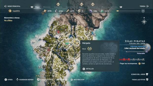 Assassin's Creed Odyssey - Miembros del Culto: localización de Hárpalo