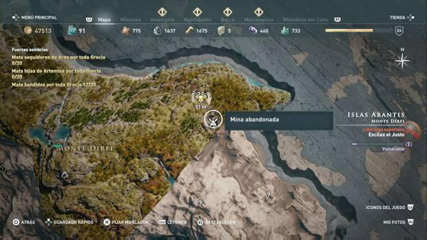 Assassin's Creed Odyssey - Miembros del Culto: localización de El centauro de Eubea