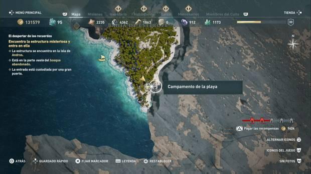 Assassin's Creed Odyssey - Miembros del Culto: localización de La Quimera