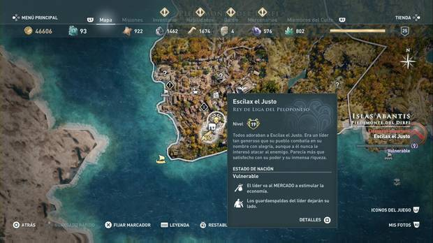 Assassin's Creed Odyssey - Miembros del Culto: localización de Escílax el Justo