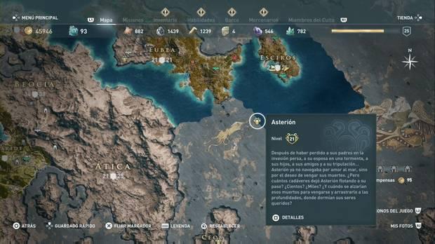 Assassin's Creed Odyssey - Miembros del Culto: localización de Asterión