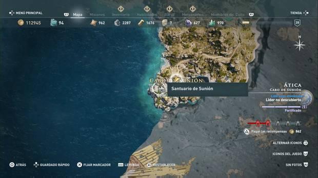 Assassin's Creed Odyssey - Miembros del Culto: localización de Ocito el Grande