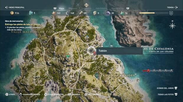 Assassin's Creed Odyssey - Obra de mercenarios: ubicación