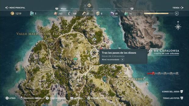 Assassin's Creed Odyssey - Tras los pasos de los dioses: localización