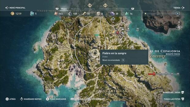 Assassin's Creed Origins - Fiebre en la sangre: localización